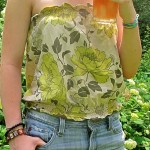 Free Sewing Project – Strapless Summer Top Pattern