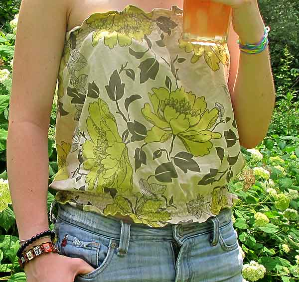 Free Sewing Project - Strapless Summer Top | Woo! Jr. Kids Activities