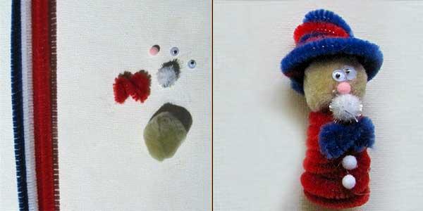 uncle sam finger puppet 4th of July Kids Crafts: Finger Puppets