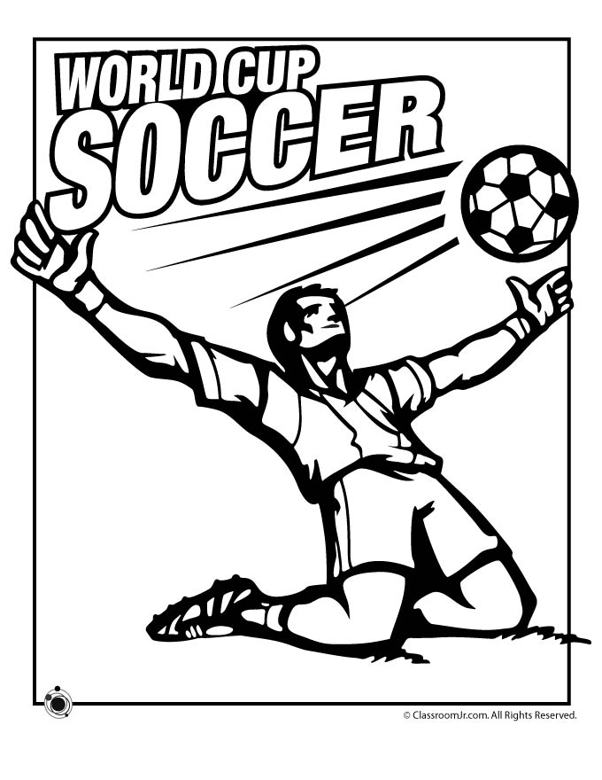World Cup Coloring Pages Woo