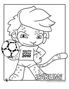2010 World Cup Mascot Coloring Page - Zakumi