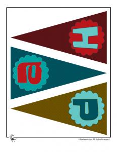 Printable Birthday Banner Page 1