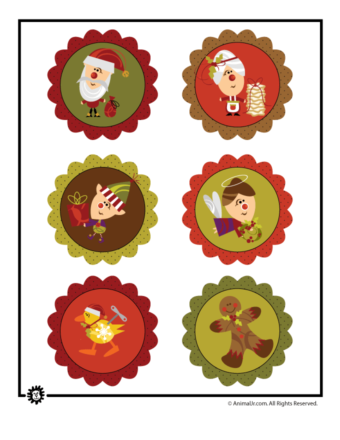 Shrinky Dinks Christmas Craft Ornament Printable Decorations