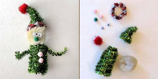 christmas elf finger puppet Christmas Kids Crafts: Easy Finger Puppets