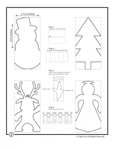 template for a christmas tree