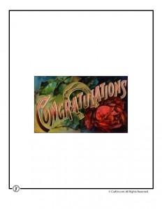 Congratulations Printable Vintage Postcard