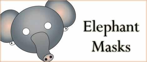 Printable Animal Masks Elephant