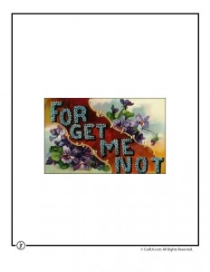 Forget Me Not Vintage Postcard to Print