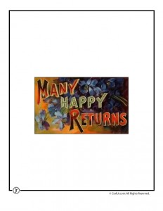 Many Happy Returns Printable Vintage Postcard