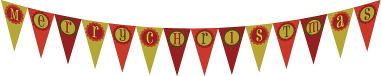 Printable Merry Christmas Banner