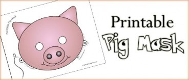 Printable Animal Masks: Pig Mask