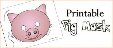 Printable Animal Masks: Pig Mask