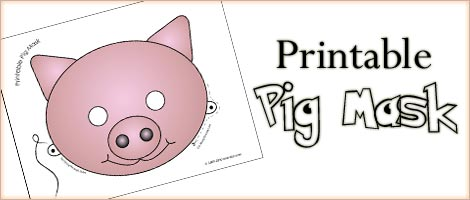 Printable Animal Masks Pig Mask