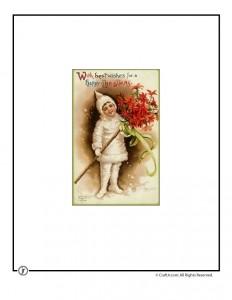 Christmas Pixie Vintage Postcard