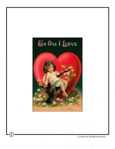 Love Note Printable Vintage Postcard