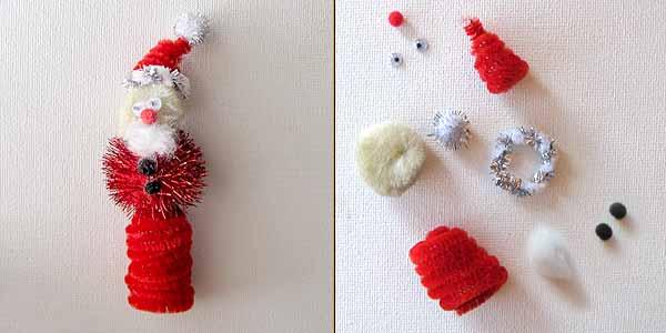 santa finger puppet Christmas Kids Crafts: Easy Finger Puppets