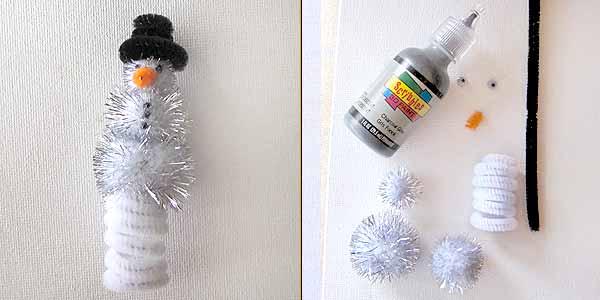 snowman finger puppet Christmas Kids Crafts: Easy Finger Puppets