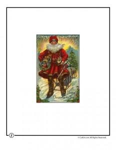 Vintage Christmas Postcard Printables