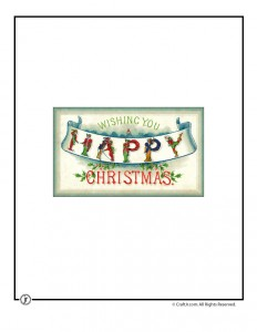 A Happy Christmas Vintage Postcard to Print