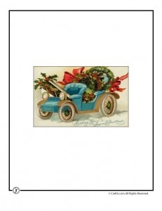 Vintage Holiday Car Christmas Card