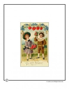 To the One I Love Vintage Postcard to Print