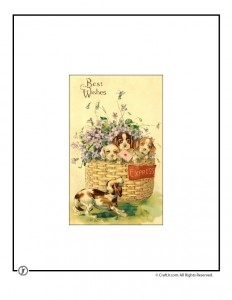 Vintage Puppies Printable Vintage Postcard