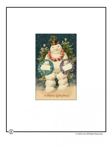 Vintage Snowman Printable Postcard
