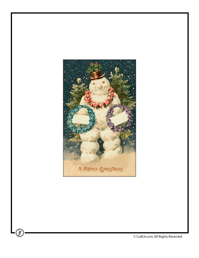 Printable Vintage Christmas Cards