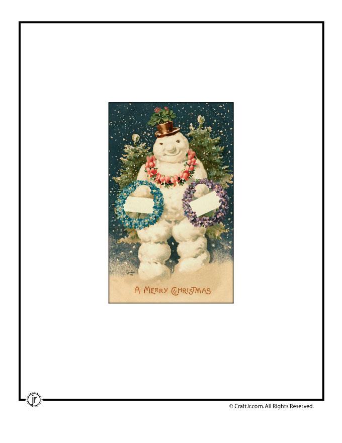 Printable Vintage Christmas Cards