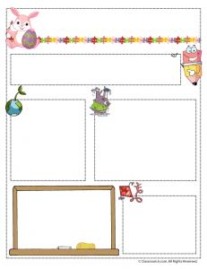 april teacher newsletter 231x300 Teacher Newsletter Templates