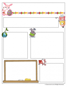 April Teacher Newsletter Template
