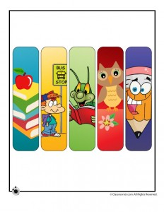 Printable Back to School Bookmarks