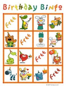 Birthday Bingo Card 10