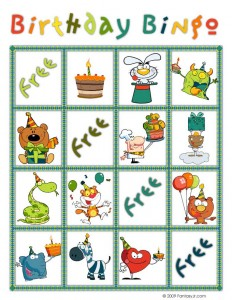 Birthday Bingo Card 2