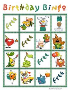 Birthday Bingo Card 3
