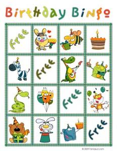 Birthday Bingo Card 4