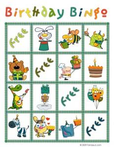 Birthday Bingo Card 5