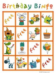 Birthday Bingo Card 6