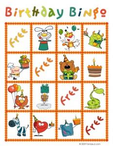 Birthday Bingo Card 7