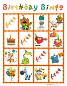 Birthday Bingo Card 8