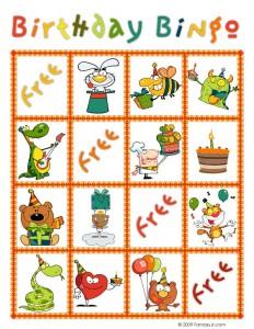 Birthday Bingo Card 9