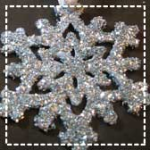Cricut Glitter Snowflakes