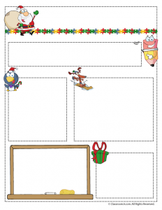 December Teacher Newsletter Template