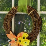 Easy Fall Paper Flowers Wreath Craft