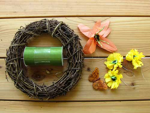 Fall Wreath Craft Materials