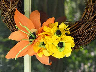 Fall Flower Wreaths Closeup