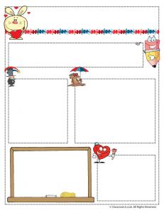 feb teacher newsletter 231x300 Teacher Newsletter Templates