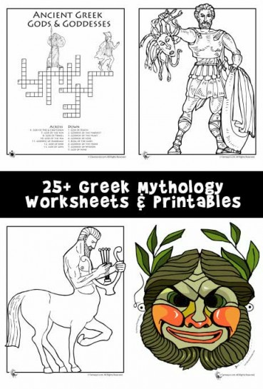 Greek Mythology Worksheets & Coloring Pages