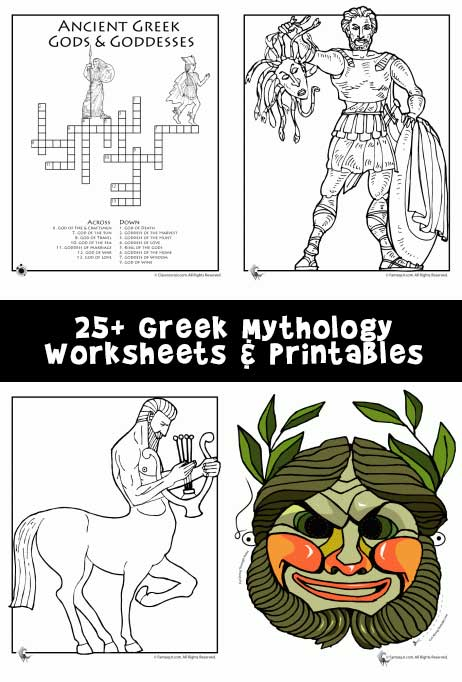 25+ Greek Mythology Worksheets & Printables