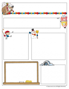 January Teacher Newsletter Template